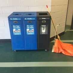 Establish recycling stations