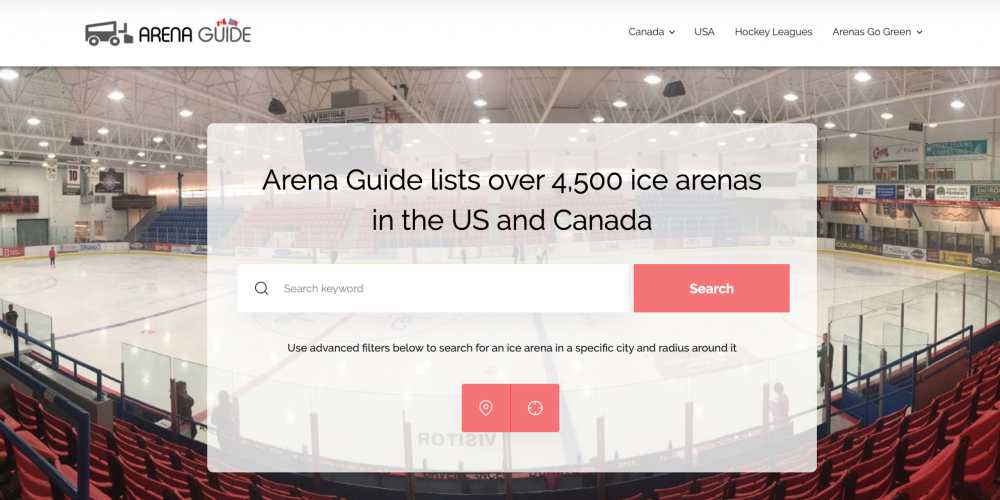 Arena Guide Canada expands to include arenas in the US
