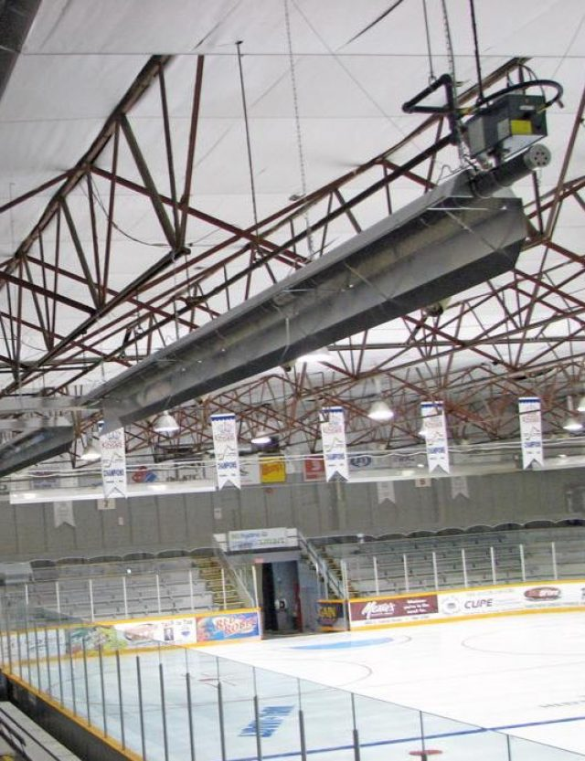 Operate bleacher heaters with coins