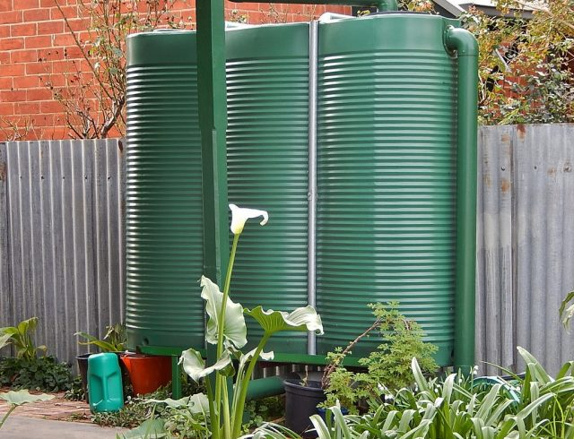 Collect rainwater for flood water