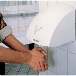 Install electric hand-dryers