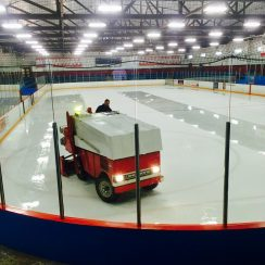 Drive an electric ice resurfacer
